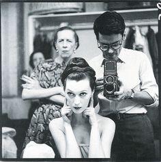 Diana Vreeland et Richard Avedon, 1955 http://www.vogue.fr/culture/a-voir/diaporama/diana-vreeland-l-hommage-a-venise/7367#diana-vreeland-et-richard-avedon-1955