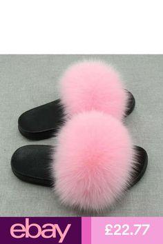 Real Fox Fur Slides Plus Size Open Toe Fluffy Real Hair Slippers Summer 2018 Slip On Flip Flops Gold bottom Furry Shoes Cute Nike Shoes, Cute Nikes, Fancy Shoes, Buy Shoes, Estilo Converse, Fur Sliders, Fluffy Shoes, Cute Slippers, Fashion Slippers