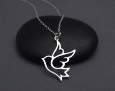 Sterling Silver  Dove Necklace  If You Want To Fly