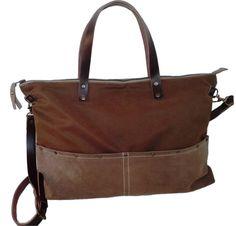 Unisex Brown Bag Messenger/ Shoulder Bag /Strap by 13sferas