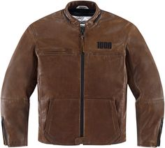 Ministry of Bikes - Icon 1000 The Hood Leather Motorcycle Jacket - Brown, £434.99 (http://www.ministryofbikes.co.uk/icon-1000-the-hood-leather-motorcycle-jacket-brown.html/)