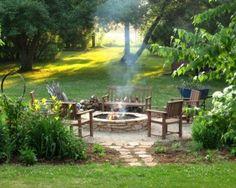 Garden bonfire area :)