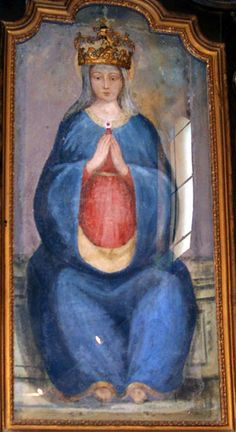 Depictions of Pregnant Madonna: with the round belly,