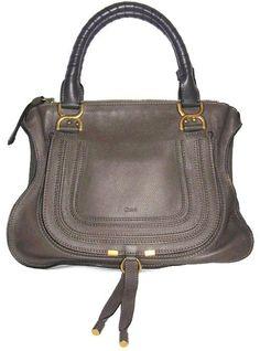 Chlo Chloe Marcie Medium Leather Ash Satchel. Save 35% on the Chlo Chloe Marcie…