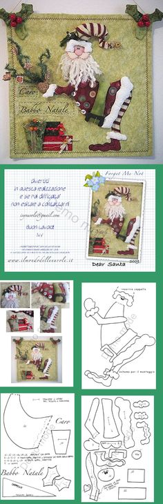 KUFER with artistic handicraft: rag dolls - patterns Christmas Projects, Holiday Crafts, Christmas Ideas, All Things Christmas, Christmas Time, Christmas Stockings, Christmas Ornaments, Christmas Sewing, Xmas Decorations