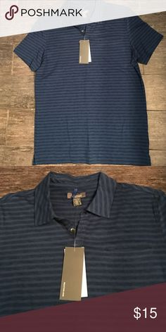 Blue stripe SS polo style top NWT Kenneth Cole men's polo top Kenneth Cole Reaction Shirts Polos