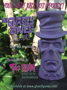 The Ghastly Ones - Tiki Farm / Baron Shivers Tiki Glasses, Tiki Lounge, Hula Girl, Tropical Art, Luau, Sculpting, Garden Sculpture, Pop Culture, Mid-century Modern