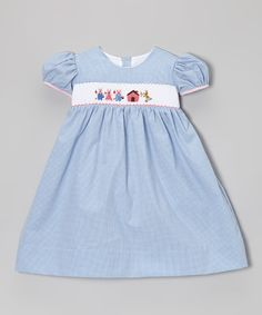 <p+style='margin-bottom:0px;'>Little+piglets+will+look+darling+in+this+fable-inspired+frock!+Gingham+and+delicate+embroidery+add+classic+touches,+while+a+cotton-blend+fabric+ensures+girls+stay+comfy.+<p+style='margin-bottom:0px;'><li+style='margin-bottom:0px;'>55%+cotton+/+45%+spandex<li+style='margin-bottom:0px;'>Machine+wash;+hang+dry<li+style='margin-bottom:0px;'>Imported<br+/>