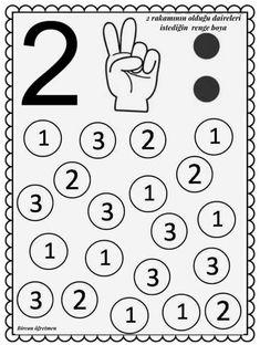 Math Literacy, Kindergarten Math Worksheets, Preschool Learning Activities, Preschool Printables, Preschool Activities, Kids Learning, Free Worksheets, Numbers Preschool, Learning Numbers