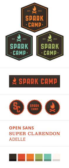 Spark Camp: Branding and Code by John Boilard, via Behance
