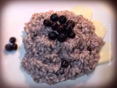 Babettes gæstebud.: Risotto with blueberries and smoked scamorza cheese