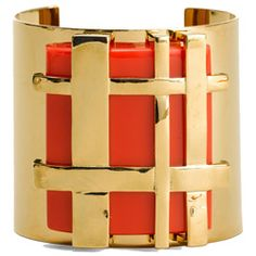 Love the edgy gingham effect of this Tory Burch cuff