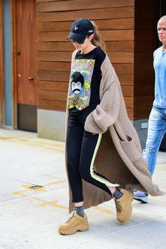 Gigi Hadid in New York Street style 2018