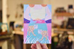La voici la délicate illustration de @bellecmorgane pour terminer notre mois de février en beauté !   #sendlove #postcard #momongamoment #illustration #artbox #print #design