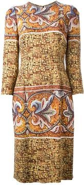 Dolce & Gabbana floral mosaic printed dress on shopstyle.com