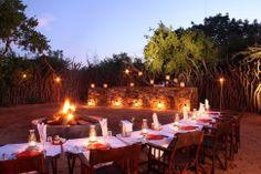 Boma at Rhulani Safari Lodge.