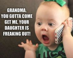 Funny Baby Jokes, Baby Memes, Cute Funny Babies, Funny Kids, Funny Cute, Really Funny, Funny Babies Laughing, Laughing Baby, Grandma Quotes