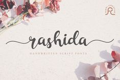 Rashida is a stunning and lovely script with great legibility. It combines personality and style into one truly beautiful font!