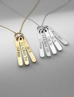 loved ones stamped pendant