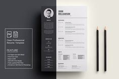 Clean Resume/CV by deviserpark on @Graphicsauthor