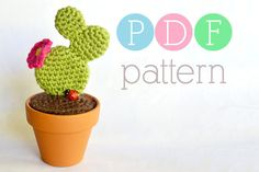 Amigurumi Cactus  Crochet Prickly Pear PDF by BubblegumBelles, $3.25