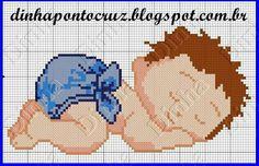 Hoje temos um dorminhoco    Aqui os gráficos que usei    Para outras versões do bebezinho  clique aqui!