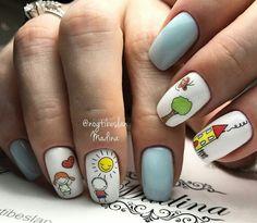 Позитивный дизайн ногтей 35 фото