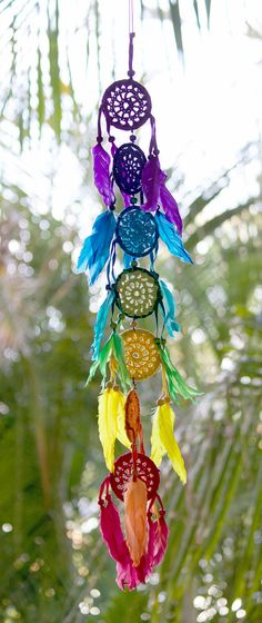 Chakra dream catcher rainbow dream catcher crochet dream