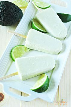 Avocado Lime Popsicles by healthiersteps