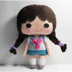Nana Menina - Padrão de boneca, sentiu boneca, PDF