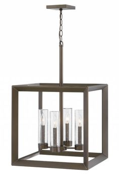 Rhodes exudes warmth and a handsome appeal with a clean transitional design and generous proportions. Perfectly suited for either exterior or interior spaces, the Warm Bronze finish and clear seedy glass perfectly complements the robust framework. Outdoor Hanging Lanterns, Outdoor Chandelier, Linear Chandelier, Outdoor Lighting, Pendant Lighting, Outdoor Lantern, Pendant Chandelier, Rustic Lighting, Light Pendant