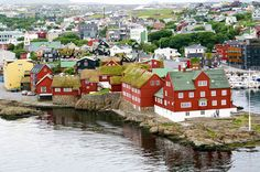 Tórshavn, capital of the Faroe Islands Faroe Islands Map, Banks House, Kingdom Of Denmark, Tourist Board, National History, Island Map, European Summer, Tourist Information