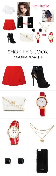 """""""My Style"""" by mariearisteau on Polyvore featuring Alice + Olivia, Apt. 9, Red Herring, Skagen, a_line and Givenchy"""