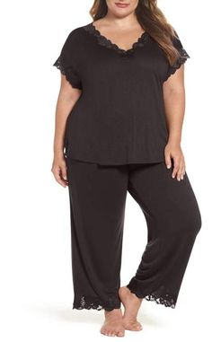 Natori 'Zen Floral' Pajamas (Plus Size) Plus Size Pajamas, Cute Pajamas, Pajamas Women, Stylish Plus, Comfy Casual, Plus Size Women, Pajama Set, Plus Size Outfits, Lounge Wear