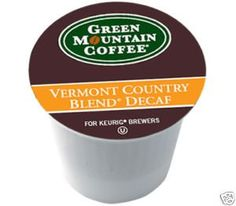 Green Mountain Coffee Vermont Country Blend DECAF 108 KCups  12 Bonus KCups -- Click image for more details.