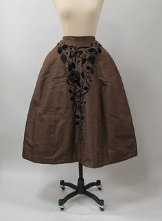 1952-53 Charles James Cocktail skirt