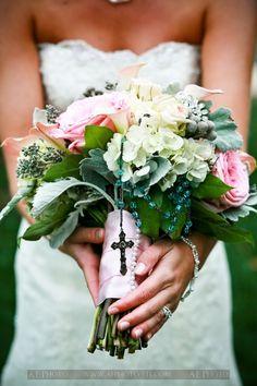 wedding bouquet--cross