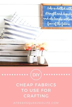 CHEAP FABRICS TO USE FOR CRAFTING