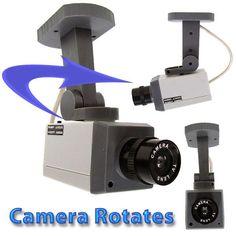 Rotating Imitation Security Camera with LED Light