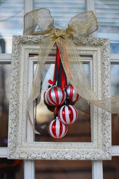 when skies are grey: Christmas Frame Wreath
