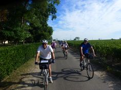 Cycle with DuVine in Bordeaux – This group of guests cycle through the vineyards of the Haut Medoc. On this trip, you will taste the bold Cabernet Sauvignon of the region and learn from the masters at various estates in the area.