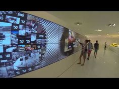 Interactive Video Wall in Porsche Museum Stuttgart - YouTube