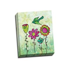 Picture It on Canvas 'Groovy Blooms IV' 16x20 Wrapped Canvas Wall Art