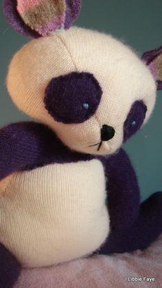 Penelope the cashmere panda by libbiefaye on Etsy