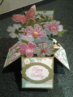 Flower shop card in a box