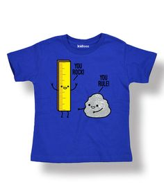 Loving this Royal Blue 'You Rock You Rule' Tee - Toddler & Kids on #zulily! #zulilyfinds
