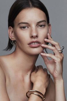 A fashion industry veteran at the age of 30, Paris-based designer Charlotte Chesnais debuts a jewelry collection that delights in dimensionality.