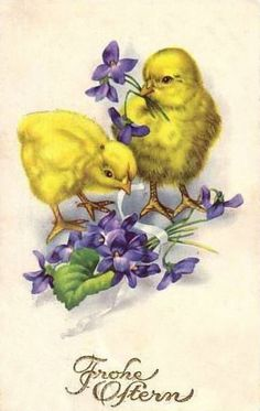 Old Easter Post Card — Frohe Ostern Easter Art, Easter Crafts, Vintage Easter, Vintage Holiday, Vintage Greeting Cards, Vintage Postcards, Decoupage, Diy Ostern, Easter Parade