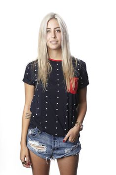 340d1672b8342a Just Stars Ringer (Navy) - Womens - Civil Clothing - Brands
