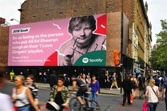 Spotify, one of today's most popular music streaming services, rolled out one of the cheekiest ad campaigns of the decade last year, and now they're back for more to celebrate the end of Spotify Billboards, Funny Billboards, Funny Advertising, Creative Advertising, Most Popular Music, Logos Retro, Billboard Design, Funny Laugh, Hilarious